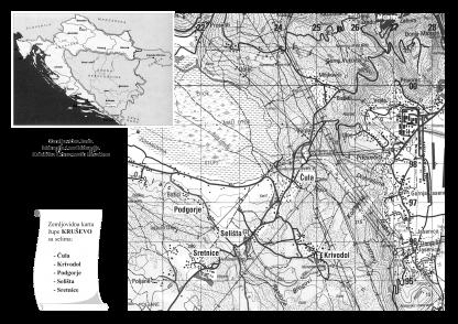 Lubo Planinić - Stradanje Hrvata Kruševa-karta1